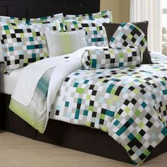 7 Piece King Pixel Comforter Set from the Bold Bedroom event at Joss and Main