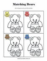 Matching Bears coloring sheet. Color the larger bear so it matches the small bear.