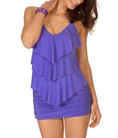 Magicsuit: Solids Jersey Skirted Swimwear Bottom #464465