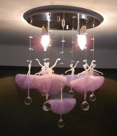 I wanna this in my Disney room😍😍😍✌️✌️✌️🎉🎉🎉 Ballerina Room, Ballerina Birthday, Girls Bedroom, Bedroom Decor, Little Girl Rooms, Baby Decor, Wind Chimes, Diy And Crafts, Kids Room