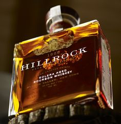 Hillrock Distillery's classy bottle design, by Monument, Kyle Poff, and Casey Martin.