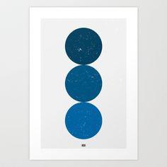 blue i 001 Art Print by INDUR - $18.00