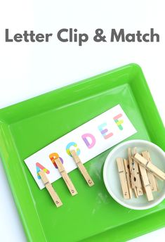 Preschool Alphabet Activities from The Dollar Spot