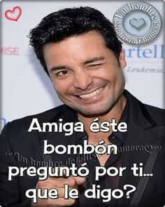 Chayanne Happy Birthday Pictures, Happy Birthday Messages, Birthday Wishes, Romantic Spanish Quotes, Love Phrases, Good Night Quotes, Love Images, Funny Cards, Good Looking Men