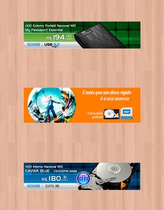 Banners web da marca Western Digital.