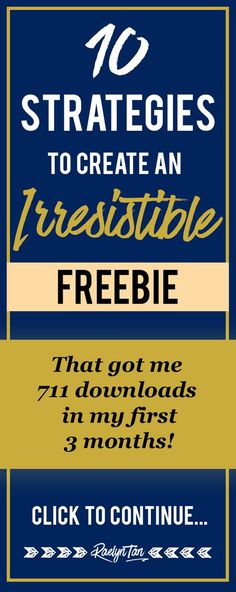 How to create an irresistible freebie/ lead magnet that rocks! Here are 10 tips I used to create a lead magnet that grew my email list, built my social media following and got people to buy products on my website!