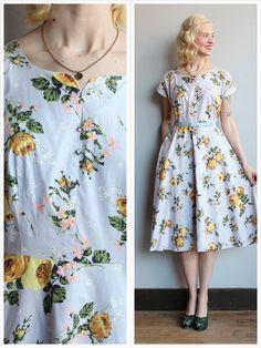 1950s Dress // Goldie Rose Dress // vintage 50s by dethrosevintage