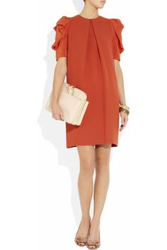 Chic little Chloe number.  Chloé | Pleated crepe dress | NET-A-PORTER.COM