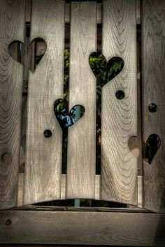 Carve hearts out of your fence