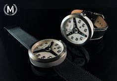 White dial with silver case ring. Pre-order now at marchandwatches.com
