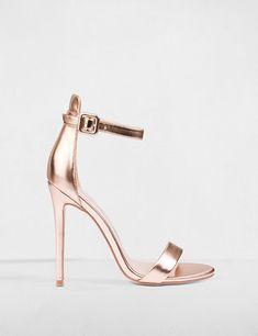 Sandales en simili cuir métallisé Morgan