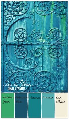 DIY Chalk Paint Furniture Ideas With Step By Step Tutorials - Verdigris Antique Door - How To Make Distressed Furniture for Creative Home Decor Projects on A Budget - Perfect for Vintage Kitchen, Dining Room, Bedroom, Bath http://diyjoy.com/chalk-paint-furniture-ideas