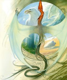 Water, Air, Earth & Fire by John Howe