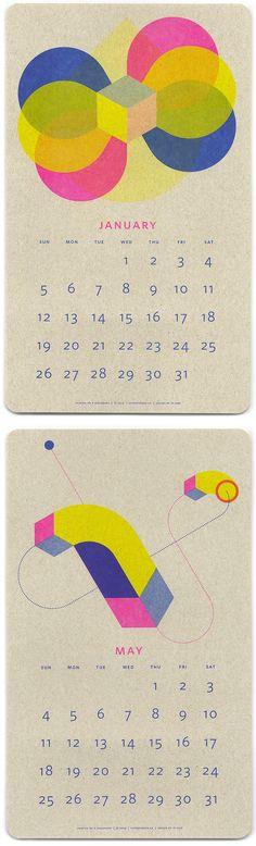 jp king - risograph print calendar