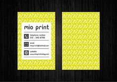 Green Business Card Design by MioPrint, €25.95