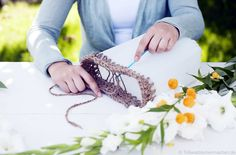 Blumenvase mit Häkelgarn verzieren #News #Wohnen