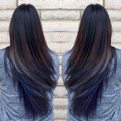 Oil slick hair trend                                                                                                                                                      More
