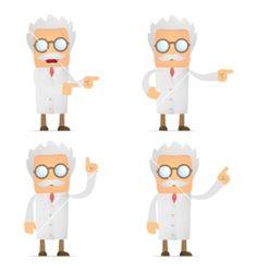 Cartoon scientist vector on VectorStock®