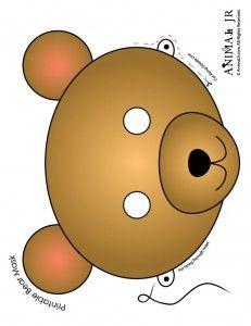Printable Animal Masks: Bear Mask Brown Bear Mask to Print – Craft Jr. Teddy Bear Day, Teddy Bear Birthday, Teddy Bears, Printable Animal Masks, Circus Crafts, Bear Mask, Goldilocks And The Three Bears, Bear Crafts, Bear Theme