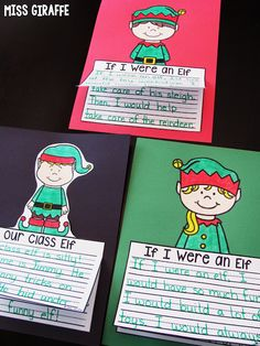 Elf writing activities that are fun, easy, and make an adorable bulletin board!