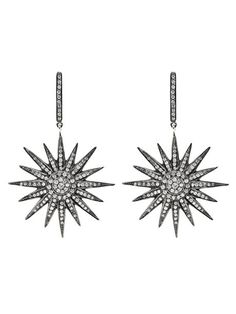 Art Deco Starburst Earrings