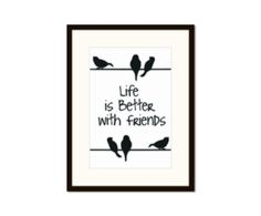 Gerahmter Fotodruck Life is better, 32 x 42 cm | Westwing Home & Living