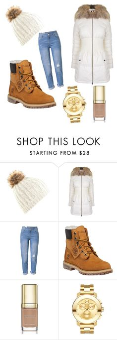 """""""brownie"""" by majamacuzic ❤ liked on Polyvore featuring K100 Karrimor, WithChic, Timberland, Dolce&Gabbana and Movado"""