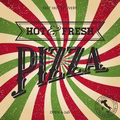 Pizza affiche Banque d'images