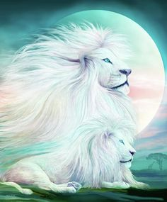 White Lion - Spirit King Mixed Media by Carol Cavalaris