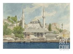 size: Giclee Print: Vue d'Istanbul Art Print by Charles Garnier by Charles Garnier : Artists Istanbul, Charles Garnier, Architectural Prints, Museum Collection, Worlds Of Fun, Gradient Color, Old Photos, Find Art, Framed Artwork