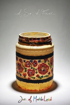 Jars of Marbleland- decorative jars, candle holders, painted glass Diy Candle Holders, Diy Candles, Jars, Flowers, Painting, Home Decor, Decoration Home, Pots, Room Decor