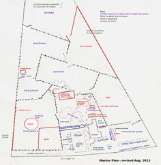 Ideal 10 Acre Homestead Layout | Copies of all our master plans are available in my book, 5 Acres & A