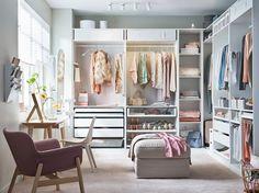 Wardrobe Room, Closet Bedroom, Bedroom Storage, Bedroom Into Dressing Room, Ikea Dressing Room, Spare Room Closet, Wardrobe Storage, Built In Dressing Table, Ikea Storage
