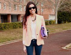 Dear Valeria: ORANGE JACKET Orange Jacket, Daily Style, Daily Fashion, Duster Coat, Spring Summer, Style Inspiration, Blazer, Fun, Jackets