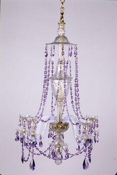 Lavender Cottage:  #Lavender chandelier.