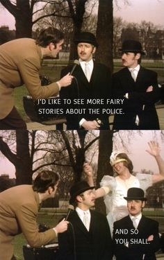 Typical Monty Python- Fairy Stories About The Police