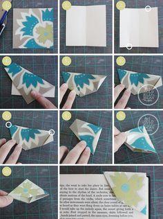 Origami Bookmark Tutorial