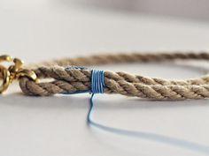 DIY tutorial: Make A Nautical Themed Dog Collar From Rope via DaWanda.com