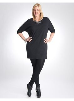 Lane Bryant Knit wedge dress - Women's Plus Size/Black - Size 14/16,