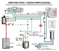 ignition and charging system diagram baja bugs pinterest rh pinterest com Basic Automotive Charging System 1983 Ford Charging System