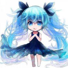 Chibi miku Deep sea girl