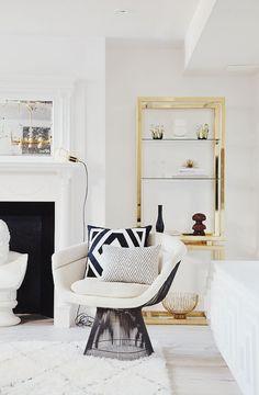 living room with Warren Platner chair
