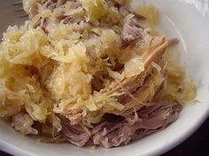 pork and sauerkraut. Traditional Pa Dutch New Years meal. (don't forget the mashed taters!)