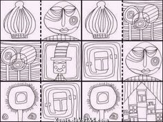 Die Besten Malbuch hundertwasser - Google-Suche  #google #hundertwasser #malbuch #suche #Die Besten Friedensreich Hundertwasser, Art Lessons For Kids, Art For Kids, Documents D'art, Arte Elemental, Coloring Books, Coloring Pages, Art Handouts, Mandalas Drawing