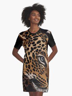 « Léopard - Léopardo - Félin - Tigre - Lion - Panthère » par LEAROCHE I Dress, Wrap Dress, T Shirt, Shirt Dress, Lion, Chiffon Tops, Cold Shoulder Dress, Short Sleeve Dresses, Casual
