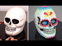 Sugar Skull Cake - Day of The Dead Cake/Pastel Calavera