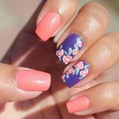 flower nail designs for spring trends 2017