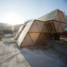 Temporary Hexa Structures made from old pallets- By BC studies