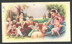 Estampa antigua del Buen Pastor andachtsbild santino holy card santini | eBay