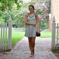 A favorite striped dress for summer + the best sandals.   photo cred: @southernstyleblog